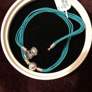 Pandora teal bracelets